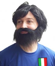 Andrea Pirlo Football Fancy Dress Wig & Beard